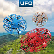 New Mini Drone UFO Hand Operated RC Helicopter Quadrocopter Drone Induction Aircraft Flying Toys For Kids(China)
