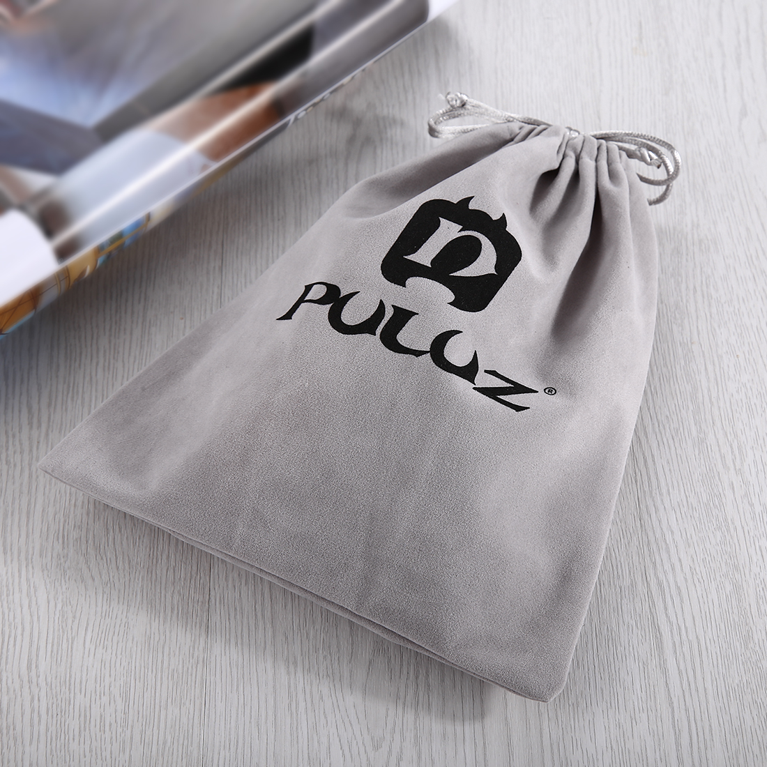 PULUZ Soft Flannel Pouch Bag For GoPro Accessories Nylon Mesh Storage Bag for GoPro SJCAM Xiaomi Yi Camera 24 5cmx 20 5cm D40 in Storage Bags from Home Garden