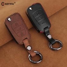 Чехол для ключей автомобиля из KEYYOU кожи для hyundai i20 i30 i40 IX25 Creta IX35 HB20 Solaris Elantra Accent для Kia K2 K5 Rio Sportage