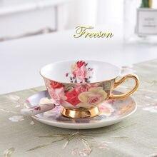Винтажная чайная чашка из Розового Фарфора блюдце ложка набор