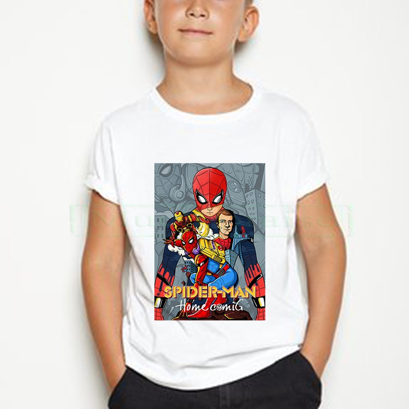 New Toddler Kids Boys Spider Man T-Shirts Tops Short Sleeve Pure Cotton  T Shirt Clothes Spider-man Costume Children's Clothes
