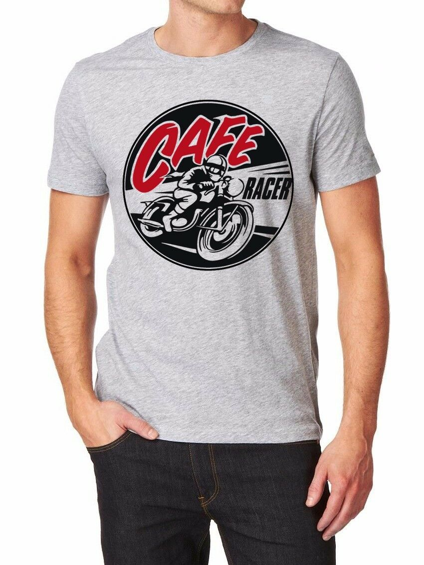 Motorcycle Motorrad Cafe Racer Car Suv Truck T-Shirt Men Shirt Fashion 3D T Hot 2019 Man Clothes Casual Male Tees