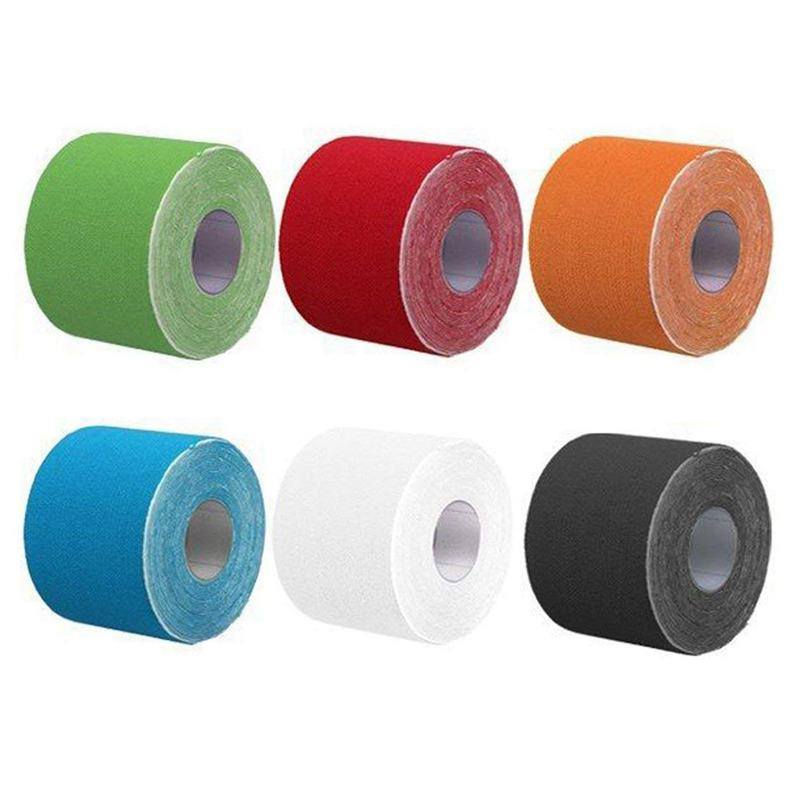 5Mx5cm Kinesiology Elastic Tape Rope Sports Physio Muscle Strain Injury Support 6 Roll - 6 Colour, 6pcs/set