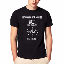Summer Networking For Dummies t shirt Funny Geek Nerd It Computer Gift Programmer casual new men t shirt boyfriend gift