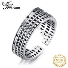 JewelryPalace Römischen Kolosseum Ringe 925 Sterling Silber Ringe für Frauen Stapelbar Ring Band Silber 925 Schmuck Edlen Schmuck