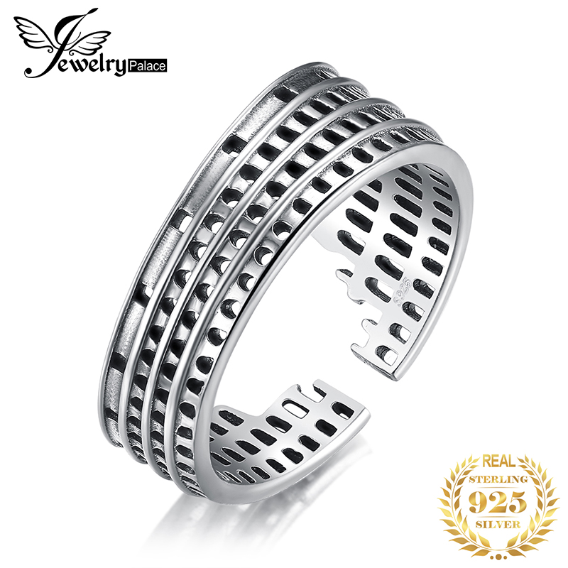JewelryPalace Roman Colosseum Rings 925 Sterling Silver Rings for