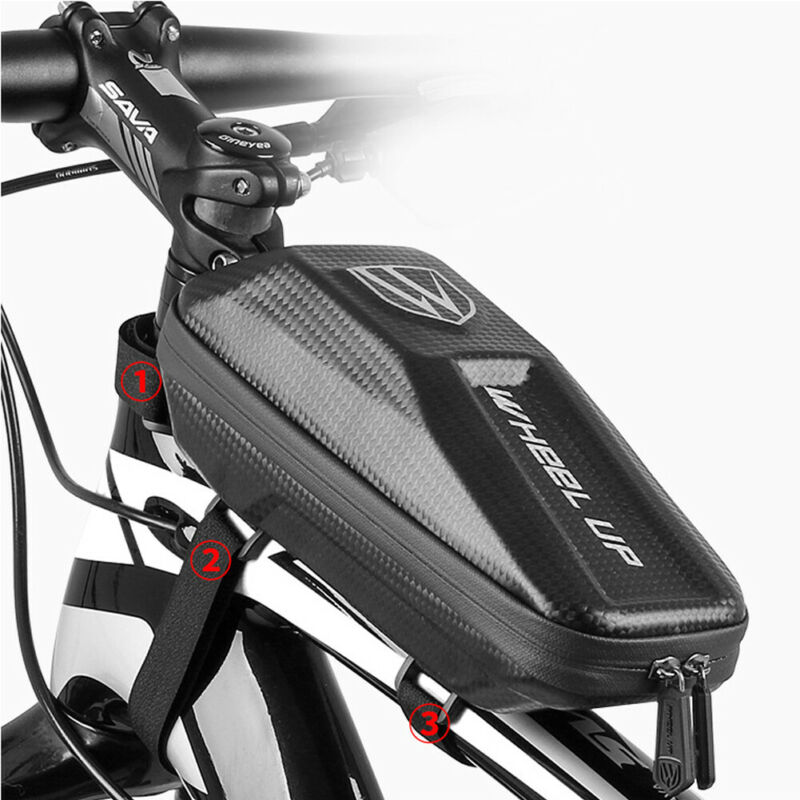 Cycling Front Bicycle Frame Waterproof Bag Bike Tube Pouch Holder Saddle Pannier