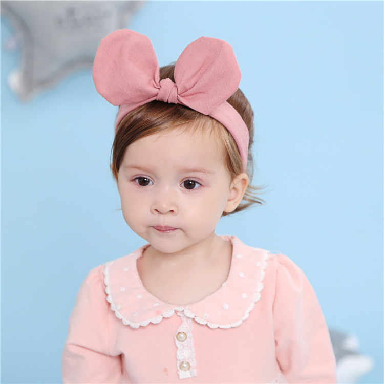 bow Headband headbands Blue linen headbands infant headband newborn headbands baby girl headbands baby headband
