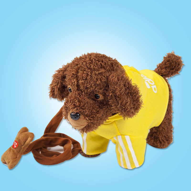 38 Song Electric Plush Toys Puppy Model Will Call Walk Dancing Music Leash Too Flute Dog Baby Electronic