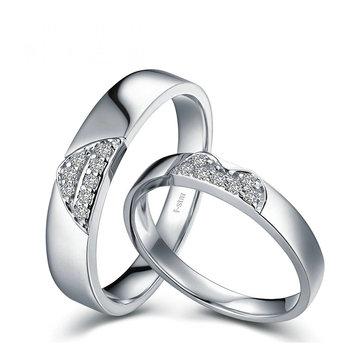 0.15ct/men 0.20ct/women18ct Gold Diamond Couple Set Rings Wedding Bands Engagement Rings for Men Women Free DHL Shipping 1