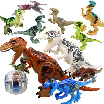Jurassic Park 2 Dinosaurs Figures Education Building Bricks World Dino Kids Toys Compatible Blocks Dinosaurs For Children Gift 16pcs building blocks avengers world park dino world dinosaur toys model kids bricks christmas gift toys