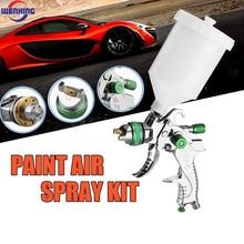 WENXING G2008 Professional HVLP 600ML 1.4/1.7/2.0mm Nozzle Gravity Air Paint Spay Gun For Car Auto Repair Tool Painting Kit