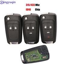 Jingyuqin 10PS Key Car KeyสำหรับChevrolet MALIBU Cruze Aveo Spark Sail 2/3/4 ปุ่ม 433/315MHz Control FOB