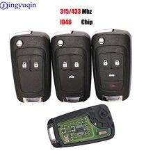 Mando a distancia jingyuqin 10ps para Chevrolet Cruze Malibu Aveo Spark Sail 2/3/4 botones 433/315MHz Control de alarma Fob