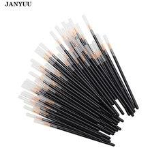 100 adet tek kullanımlık Eyeliner fırçalar bireysel aplikatör süper fiber çubuk göz astar sıvı değnek göz kalemi profesyonel fırça