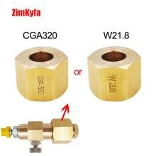 W21.8-14 or CGA320 Screw Nut for Sparking Water SodaStream Soda Maker External Hose Adapter