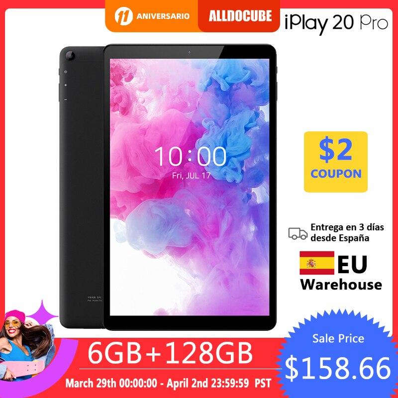 ALLDOCUBE New iPlay20 Pro 10.1 inch Android 10 Tablet 6GB RAM 128GB ROM SC9863A Tablets PC 1920*1200IPS 6000mAh TYPE-C 1