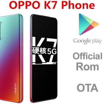 """DHL szybka dostawa Oppo K7 5G inteligentny telefon Snapdragon 765G ekran linii papilarnych Face ID 8GB pamięci RAM 256GB ROM 10.0 6.4 """"OLED"""