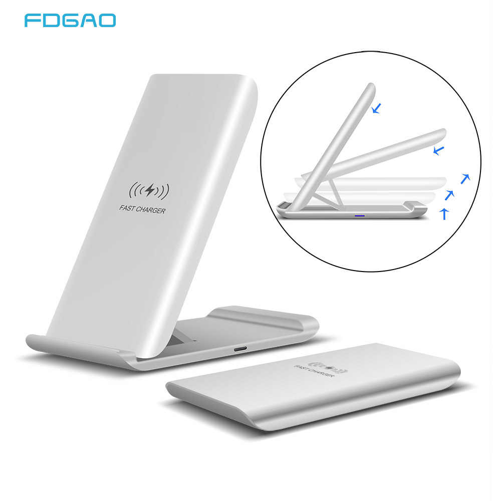 FDGAO 15W צ 'י אלחוטי מטען מהיר תשלום Dock עבור Samsung S20 S10 S9 הערה 10 מהיר טעינת Stand Pad עבור iPhone 11 פרו XS XR X