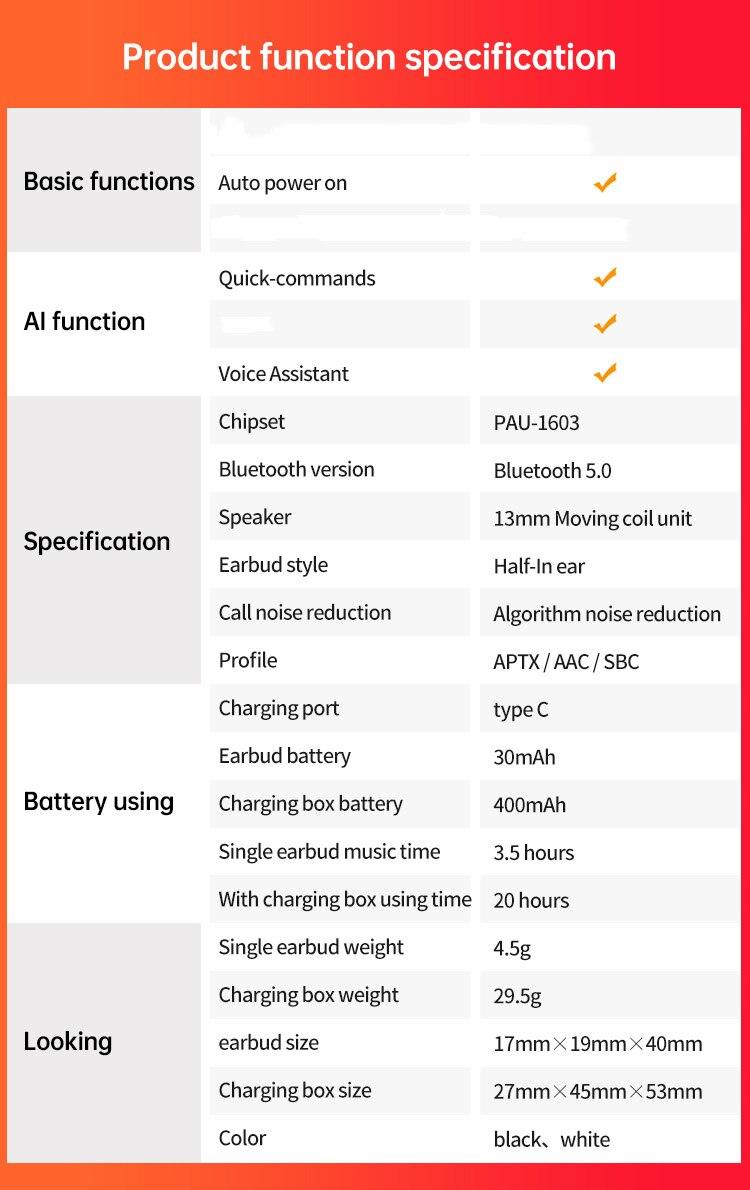 ASTROSOAR - Fineblue J1 Pro True Wireless Bluetooth® Earbuds Touch Control Wireless Headphones WIRELESS HEADPHONES