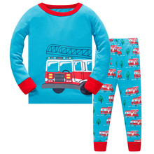 цены Kids Pajama Sets Boys Sleepwear 3-8 Years Boys Pijamas Suit Children pyjama T-shirt + Pants Baby Boy Clothing Set