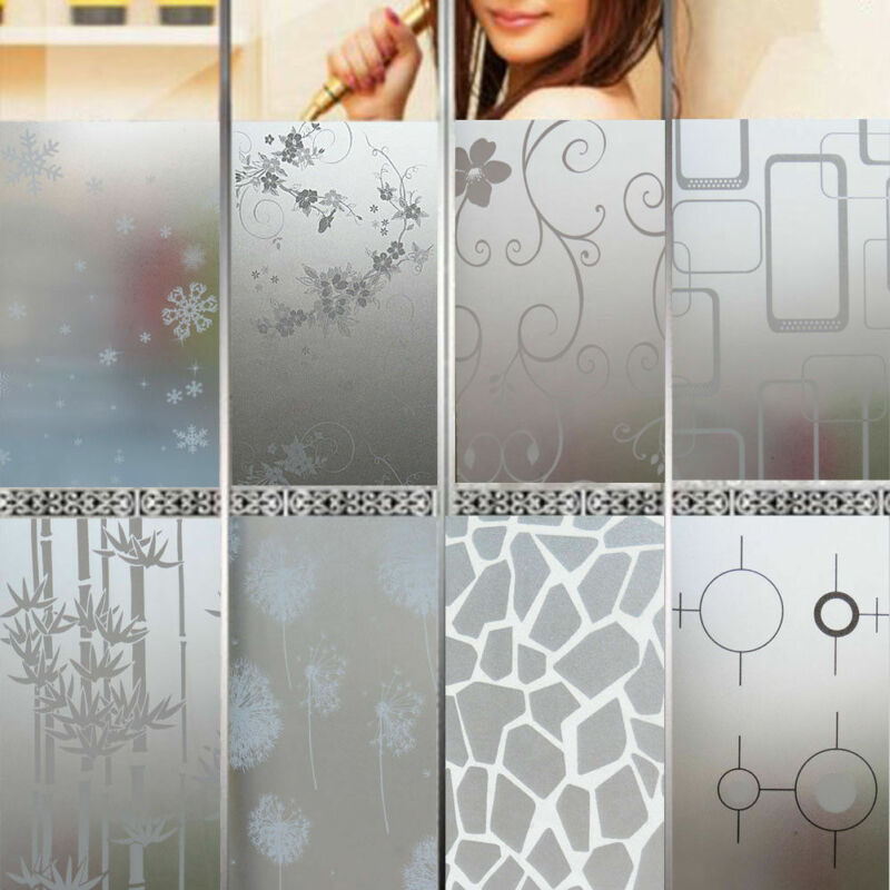 200*45CM Frosted Opaque Glass Window Self Adhesive Film Waterproof Sticker Privacy Adhesive Glass Stickers Home Decor Bedroom