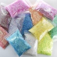 Sequins Shell-Foil-Paper Nail-Glitter Mylar Uv-Gel-Flakes Chrome Nail-Art-Decoration