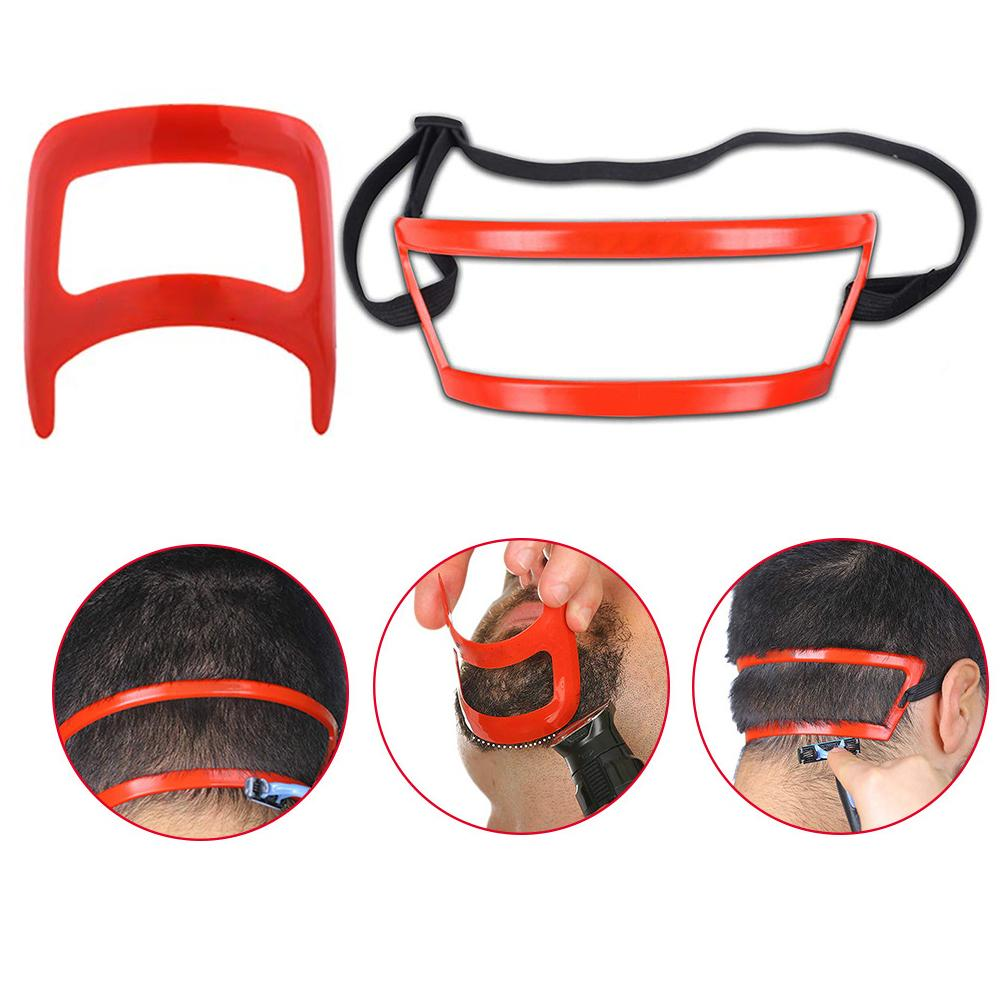 Red Neck Styler One Size Fits All Hair Cut Grooming Kit  Men Beard Shaping Styling Styling Tool Neck And Back Modeling Ruler