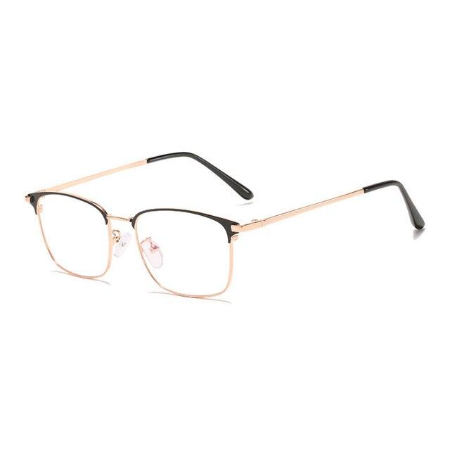 мужские очки в деловом стиле с полной оправой металлическая фотография