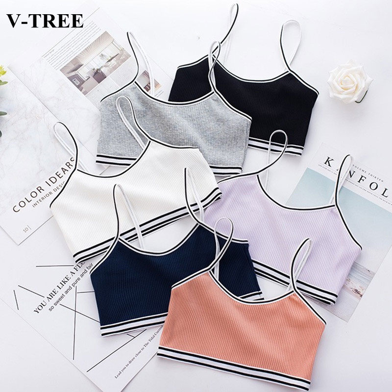 Kids Underwear Model Candy Color Tank Top For Girls Double-layer Girl Camisole Cotton Children Singlets Teenager Undershirt 8-15