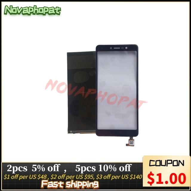 Novaphopat LCD 디스플레이 화면 BQ 휴대 BQ 5520L 실크 5520L LCD 화면 디스플레이 교체 + 추적