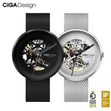 Çiğ tasarım izle MY serisi mekanik kol saatleri Minimalist tasarım Metal kayış deri kayış çiğ erkekler kadınlar için