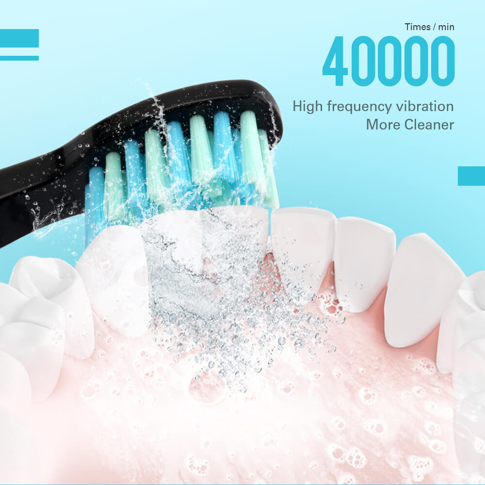 Fashion 5 Modes Sonic Electric Toothbrush Rechargeable USB Ultra Sonic Tooth Brush Waterproof for Adults Teeth Whitening