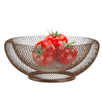 2019 New Nordic Storage Baskets White Black Metal Art Snacks Candy Fruit Basket For Living Room Desktop Kitchen Organizer Basket