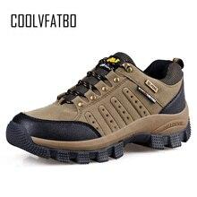 COOLVFATBO militaire bottes tactiques pour hommes en cuir à lextérieur bout rond baskets hommes décontracté escalade randonnée chaussures grande taille 36 47