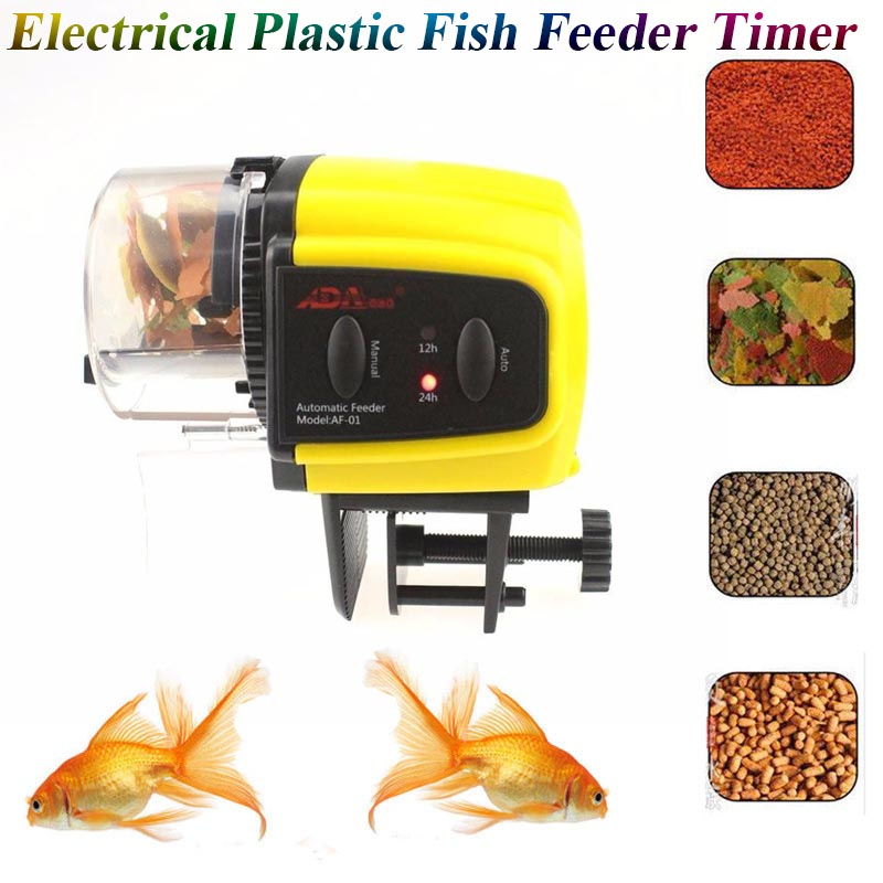 Mini Automatic Fish Feeder Tank Fish Food Electrical Timer Home Aquarium Tank Accessories Tank Fishing Food Fish Feeding