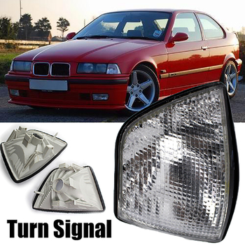 For 1992-1998 BMW E36 3-Series 4DR Coupe Corner Light Lamps Turn Signal Light Clear Automobile Items image