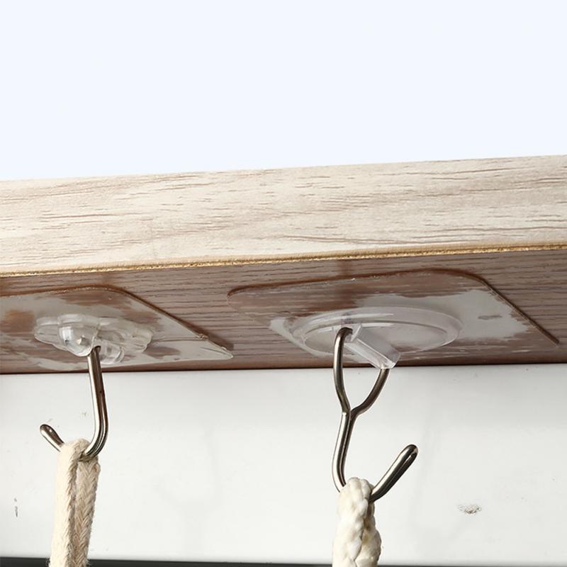 Wall Mount Waterproof Adhesive Hook Utility Hanger Seamless Bathroom Kitchen  Kitchen Appliances  Hanging Pot Racks For Kitchen