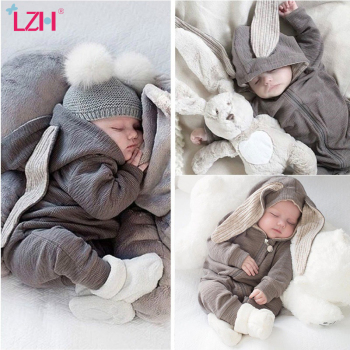 LZH Infant Clothing Baby Boys Clothes Autumn Spring Newborn Baby Rompers For Baby Girls Jumpsuit Carnival Baby Costume 0-2 Year