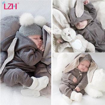 LZH odzież dla niemowląt chłopców odzież dla niemowląt jesień zima noworodka śpioszki dla niemowląt dla dziecka dziewczyny kombinezon Halloween kostium dla dzieci w wieku 0-2 roku tanie i dobre opinie Poliester COTTON Unisex W wieku 0-6m 7-12m 13-24m Stałe Z kapturem Swetry Pajacyki Pełna newborn clothes Pasuje prawda na wymiar weź swój normalny rozmiar