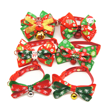 Christmas Holiday Pet Cat Dog Collar Bow Tie Adjustable Neck Strap Cat Dog Groom