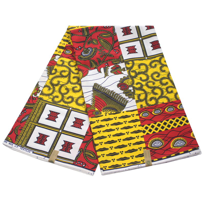 2019 Pagne Dutch Wax African Print Fabric 100% Cotton For Party Dress