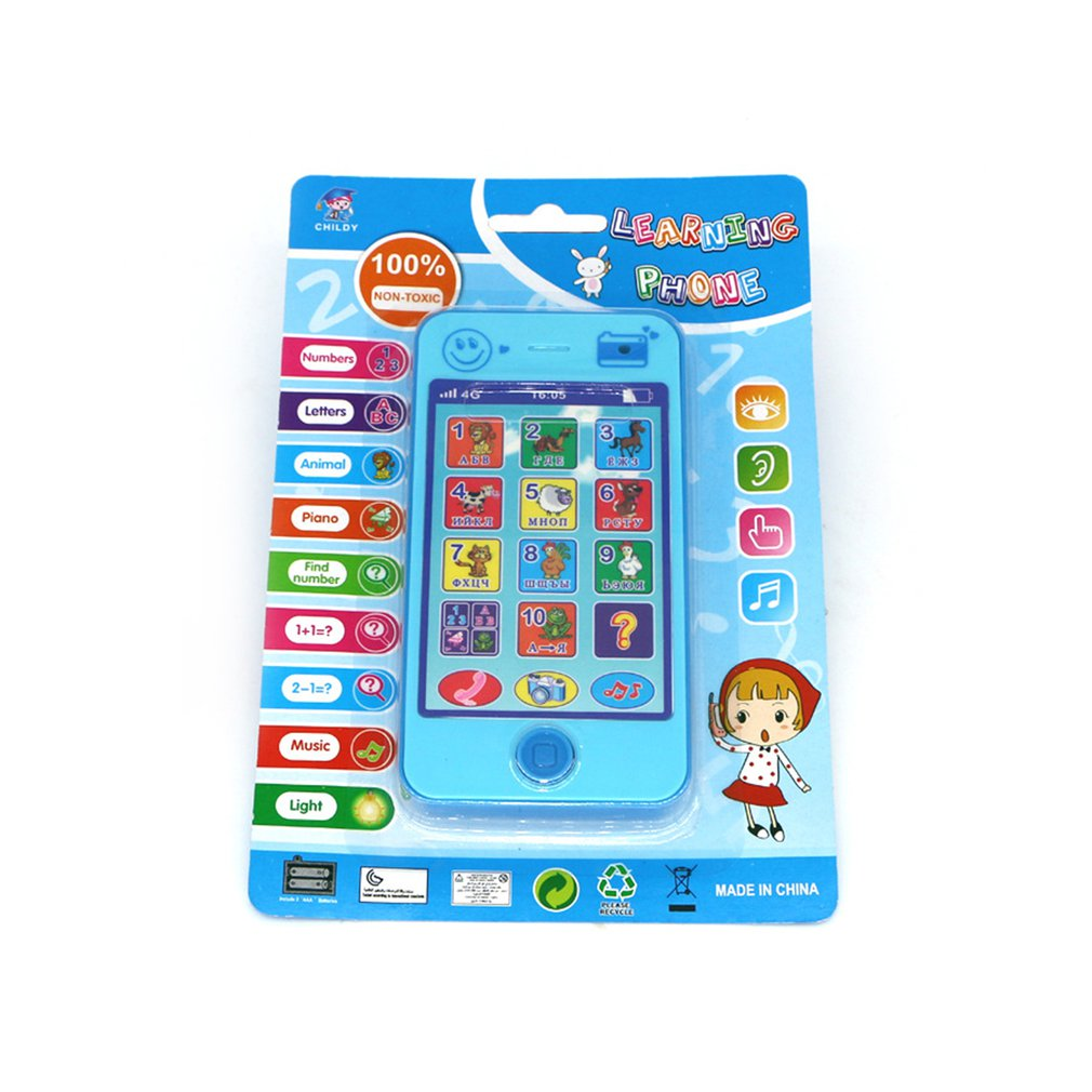 Children's Russian Toy Phone Early Childhood Mobile Phone Toy Creative Baby Kids Educational Toy Gift