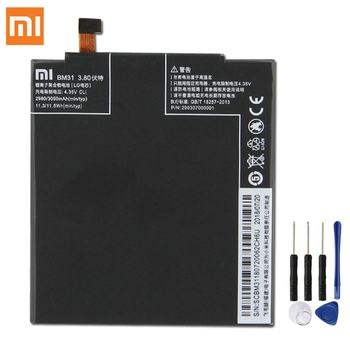 Original Replacement Battery For Xiaomi Mi 3 M3 Mi3 BM31 Genuine Phone 3050mAh
