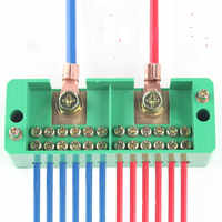 Einzigen Phase 2 In 12 Out 660V Junction Box Quick Connect Terminal Box High Power Draht Stecker