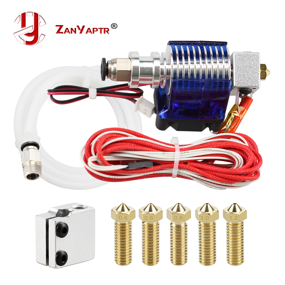 3D Printer J-head Hotend With Fan For 1.75/3.0mm 12 V 3D V6 Bowden Filament Wade Extruder 0.4mm Nozzle + Volcano Kit