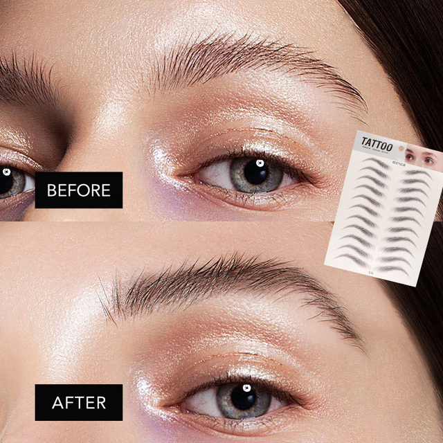 O.TWO.O 4D Hair Like Eyebrows Makeup Waterproof Eyebrow Tattoo Sticker Long Lasting Natural Fake Eyebrow Lamination Cosmetics 1