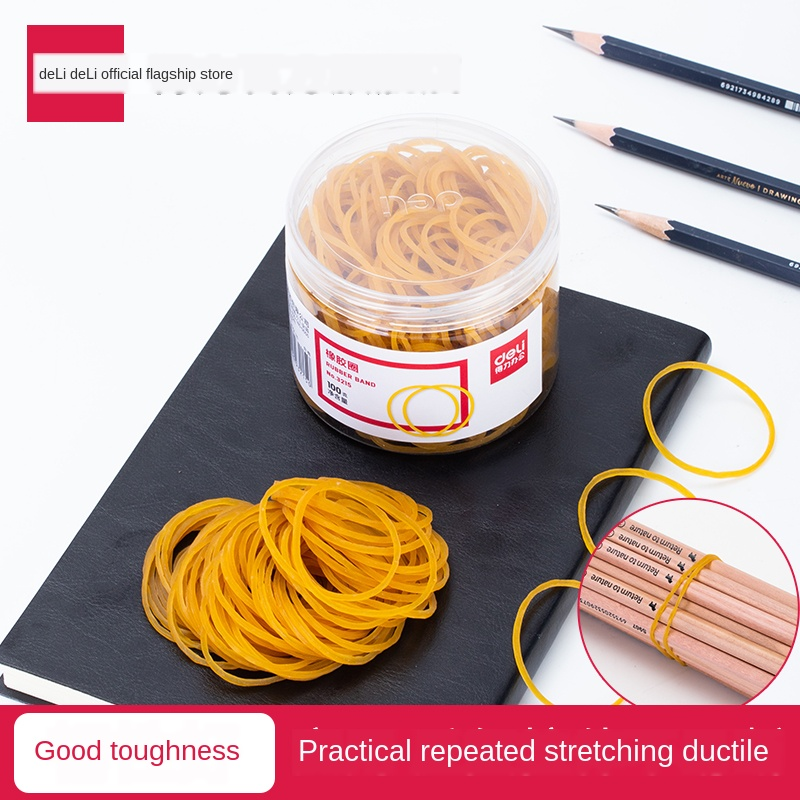 Rubber Band Yellow Rubber Ring Office Supplies Packaging 50 G/ 100 G Bundling Elasticity