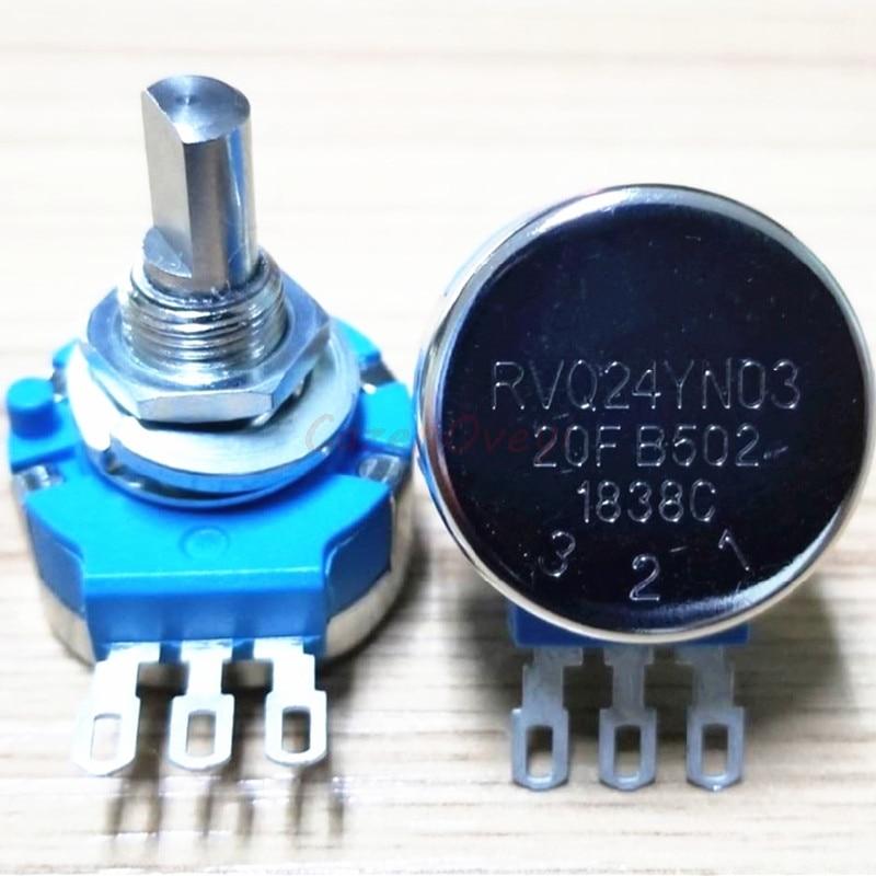1 pçs/lote RVQ24YN0320F 25F B102 1K B103 B104 10K 100K B502 5K B503 B504 50K 500K B202 2K B203 B204 20K 200K Potenciômetro