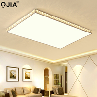 Modern Led tavan ışıkları oturma odası yatak odası için yüzeye monte tavan lamba aksesuarı uzaktan kumanda AC86-265V kapalı ev dero
